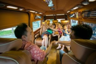 Van limousine for rent to Mui Ne
